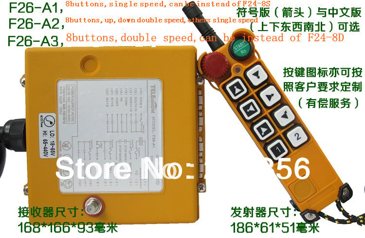 F26 A3 include 1 transmitter and 1 receiver crane Remote Control wireless remote control Uting remote
