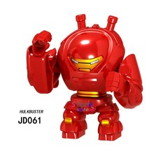 Single Big Size Avengers 4 Endgame Marvel Hulkbuster Hulk buster Green Lantern Thanos Venom Carnage Figures Building Blocks Toys(China)