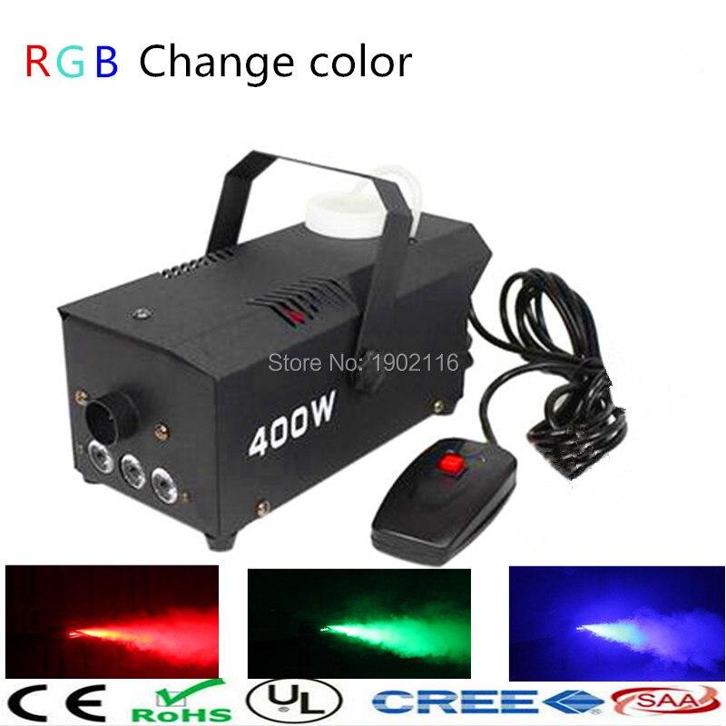 ФОТО Wire control 400W smoke machine/ RGB change color fog machine pump for party weedding Christmas stage /fogger machine