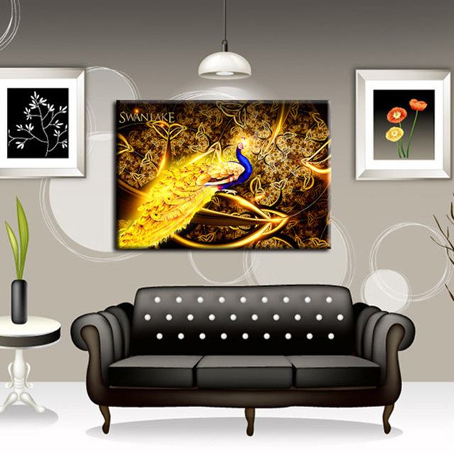5D Handmade Diamond Painting Embroidered Peacock Cross-Stitch DIY Crafts