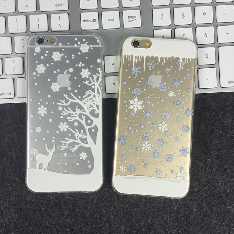 Ultra Thin Soft Silicon Christmas Case Funda Cover For Apple ...