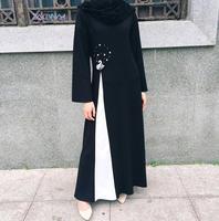 2017 new Fashion Swan Diamond Hot drilling Maxi Abaya Dress Women Islamic Turkish Robe Musulmane Dress Muslim Abaya Dubai a472