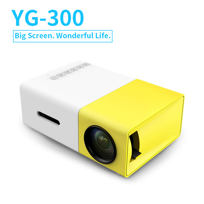 New Original YG300 LED Portable Projector 500LM 3.5mm Audio 320x240 Pixel HDMI USB Mini YG-300 Projector Home Media Player protective patterned tpu back case cover for iphone 5 5s black pink