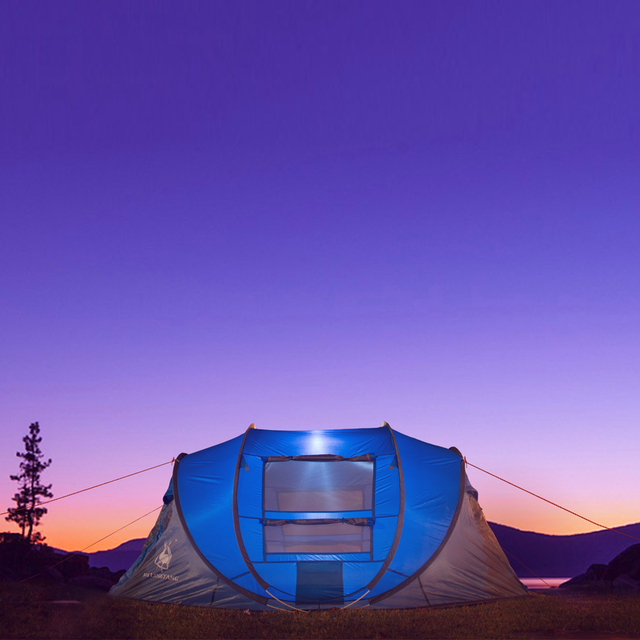 HUI LINGYANG throw tent outdoor automatic tents throwing pop up waterproof camping hiking tent waterproof large family tents 5