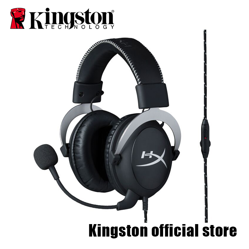 Kingston Gaming Headset HyperX Cloud Silver Gaming Headset Headphones With A Microphone New Arrival 2017