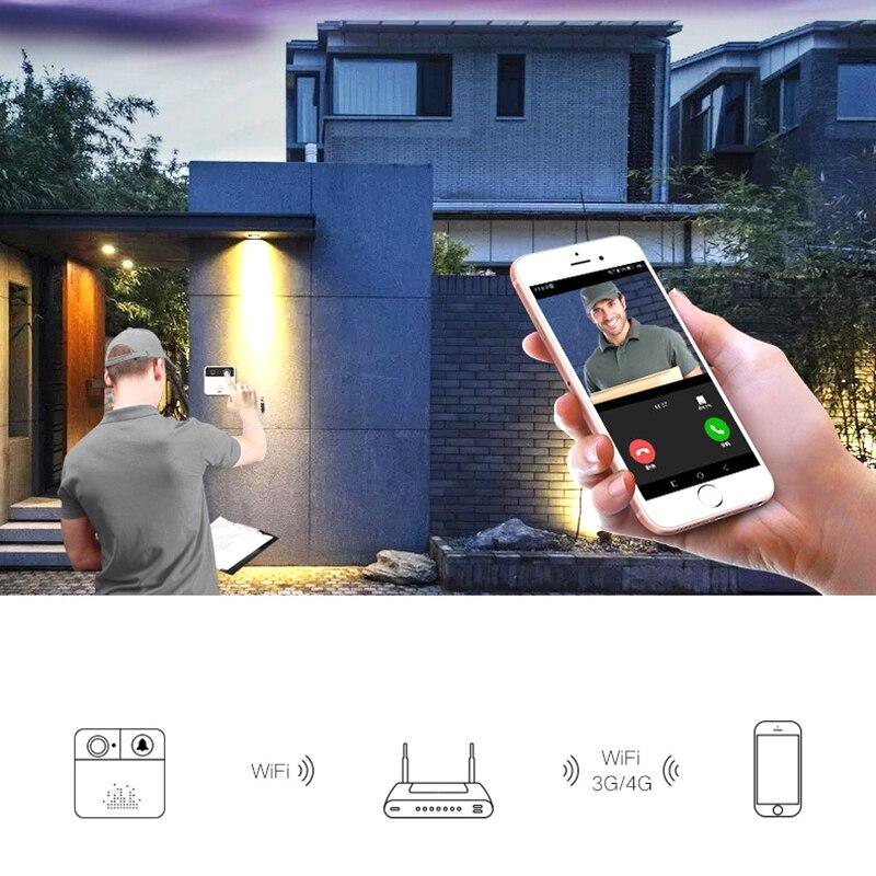 בית אלחוטי אינטליגנטי וידאו פעמון HD 720 p קול חזותי נייד טלפון מרחוק צפייה חכם אלחוטי פעמון