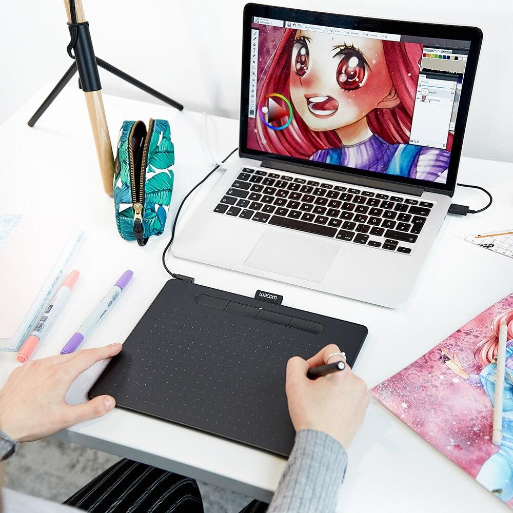 Tablette de dessin Wacom Intuos CTL-6100 tablette graphique numérique 4096 niveaux de pression taille moyenne avec logiciel Bonus - 4