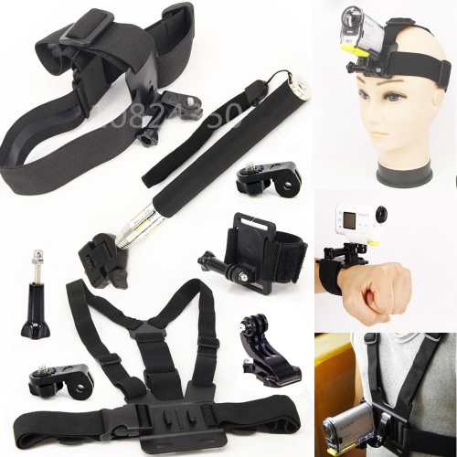6in1 1 Unidades montaje Monopod accesorios correa de muñeca tornillo Monopod para Sony acción Cam HDR-AS15 AS20 AS30V AS100V AS200V