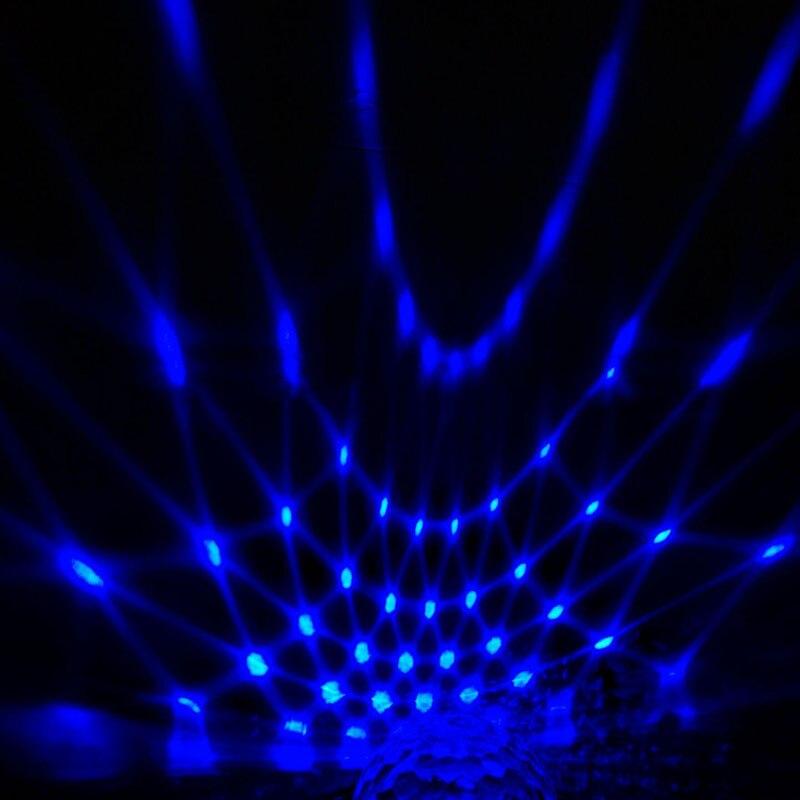 Newest US Plug RGB 3W Crystal Magic Ball Stage Lighting For Party Disco DJ Bar Bulb Lighting @8 JD9