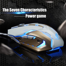 Metal Bottom Mouse without Sound 6 Buttons Optical Professional Mouse Mice Custom Macro Programming Function
