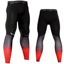 Компрессионные брюки для бега мужские спортивные Леггинсы спортивная