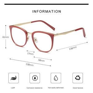 Image 3 - בציר משקפיים אופטיים נשים מסגרת סגלגל מתכת יוניסקס נשי משקפיים משקפיים oculos דה משקפי מרשם משקפיים
