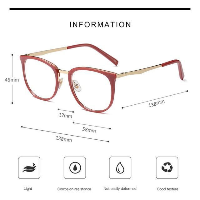 Vintage Oval Metal Eye Glasses
