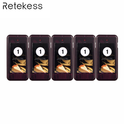 5pcs Call Coaster Pager Receiver for Wireless Paging Queuing System Restaurant Pager Calling System 433MHz F4427A