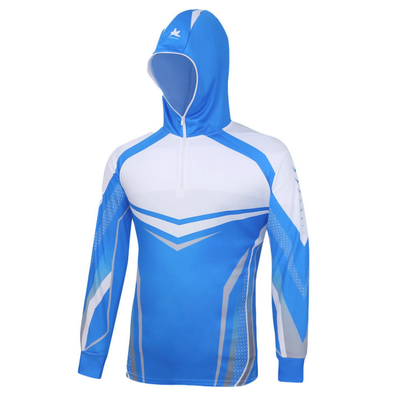 Summer Hiking Climbing Fishing Clothes Hooded Anti UV Protection Breathable Quick drying Professional Fishing Shirts Sportswear in Fishing Clothings from Sports Entertainment