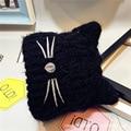 2017 New Arrive Female Baby Girls Boys Winter Hat Animal Cat Two Pom Poms Beanie Lovely 5 Color