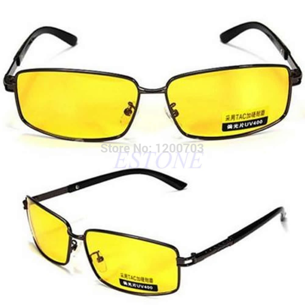 latest sunglasses nc6l  U119 New Yellow Lens Polarized Sunglasses Night Vision Driving Eyewear  Glasses UV 400 New free shipping