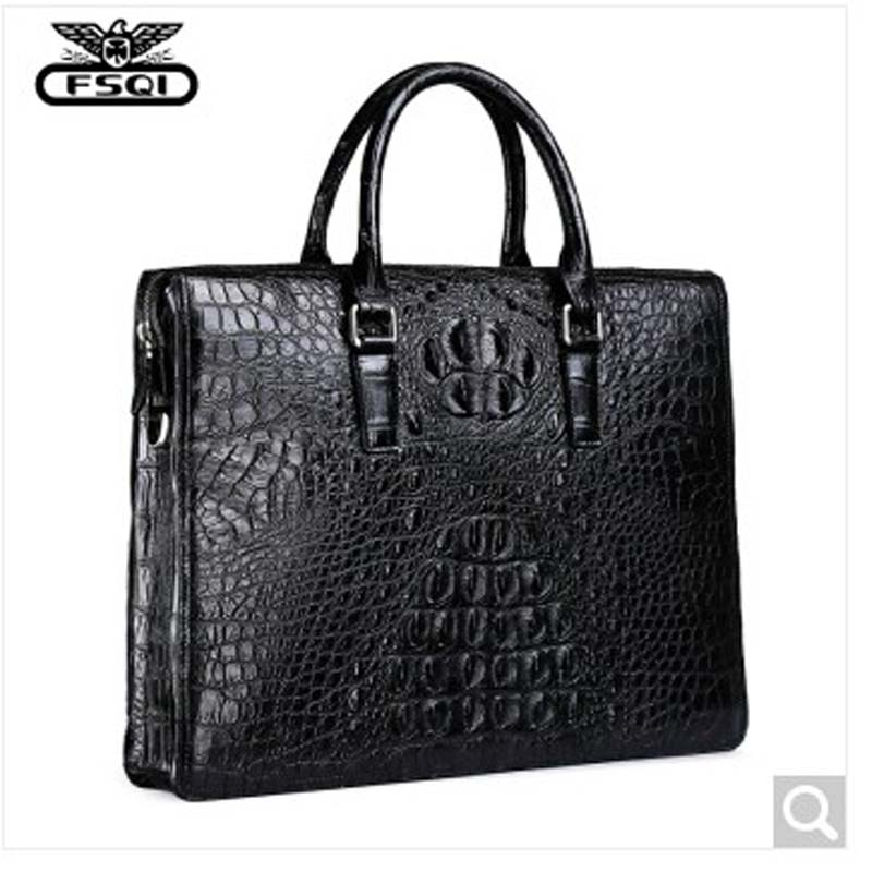 fasiqi crocodile men handbag casual one-shoulder bag fashion cross-bag alligator men bag men's business briefcase cross-section delin men bag business package men s handbag shoulder bag cowhide briefcase cross section first layer leather bag men s section
