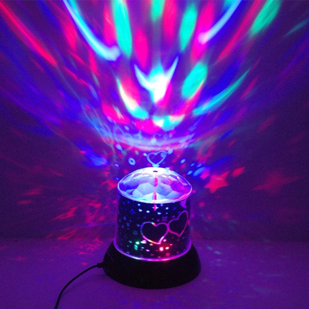 Popular Colorful Twilight Night Light Projector Lamp LED Laser Light Flashing Atmosphere Lamp Light Up Toys Valentines Gifts Toy
