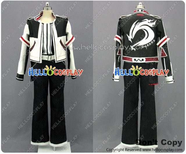 Japanese Anime Outfit The King Of Fighters Cosplay Costume Kyo Kusanagi  Black White Vest Full Set