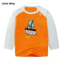Toddler Kids Tee Fashion Boys t shirts Long Sleeve Tops Print Animal O-neck Cotton T-shirts Baby Boys Clothing