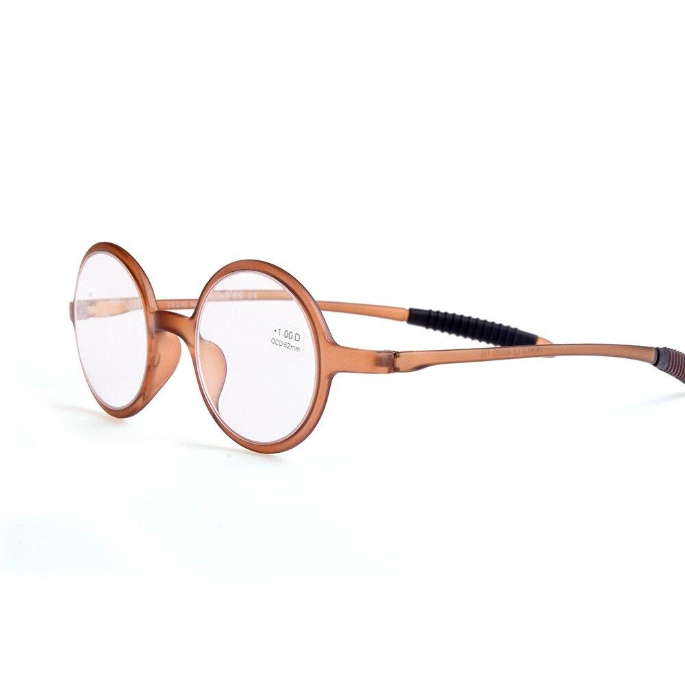 b2e77aada455c Guanhao Ultraleves Retro Redondos Óculos de Leitura Homem Mulheres Resina  Dureza Quadro Lente Clara Óculos Óculos