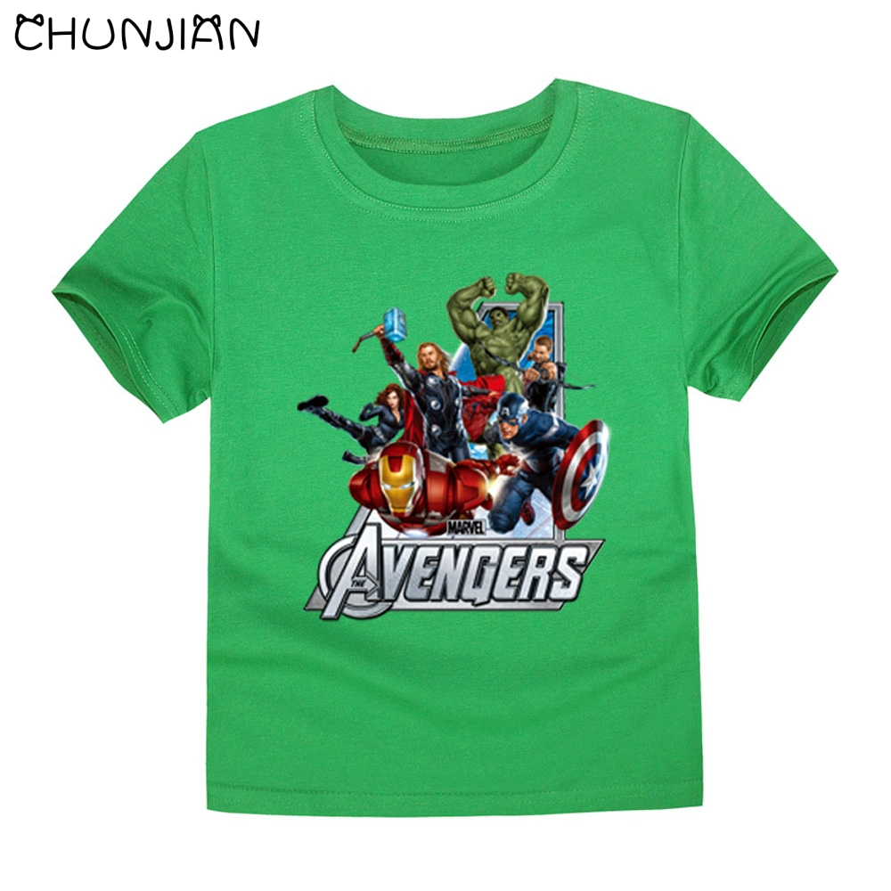 Buy chunjian fashion 2016 marvel the Boys superhero t shirts