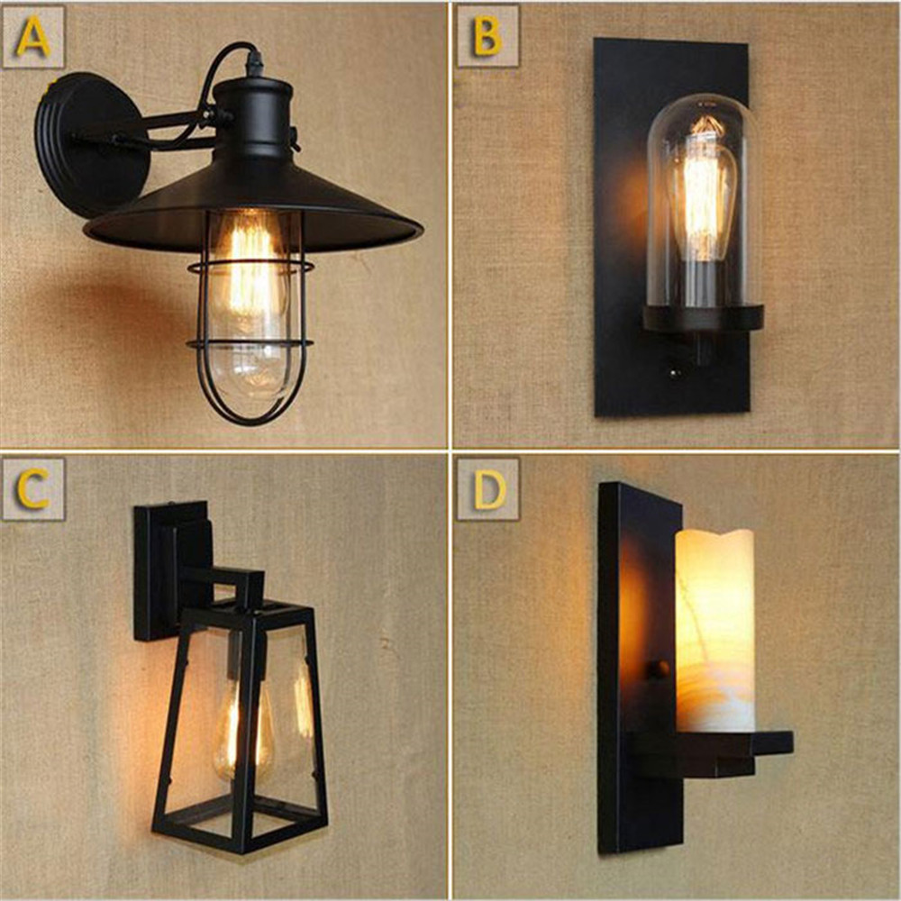 American Country Style Living Room Wall Light Industrial