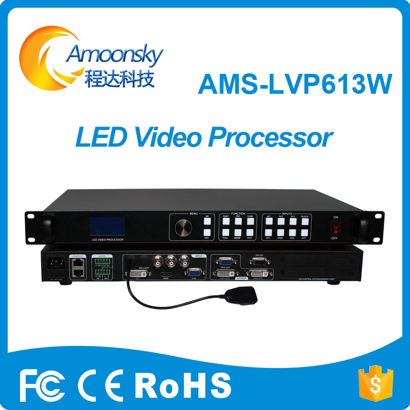Mobile Control Video Processor Display Wifi LED Screen Controller AMS-LVP613W With Audio In And Output Support Linsn Nova