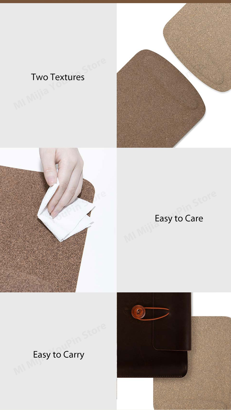 Xiaomi Youpin Mouse Pad Waterproof Skin Friendly Oak Coating Ergonomic Mouse Mat With Wrist Rest For Wired Wireless Gaming Mouse (10)