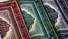 Tapis de prière de culte musulman islamique