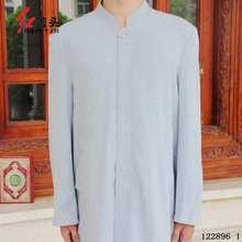 Linen men abaya islamic clothes for men,stand collar Long Cardigan Muslim Abaya thobe