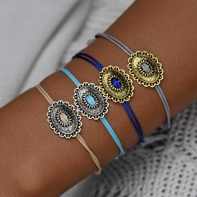 MissCyCy Vintage 3 Pcs/set Punk Hollow Moon and Star Bangles for Women Multilayer Charm Bracelet Female Jewellery