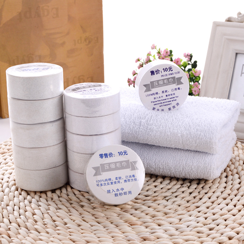 1 Pc Cotton Compressed Towel Custom Made Outdoor Travel