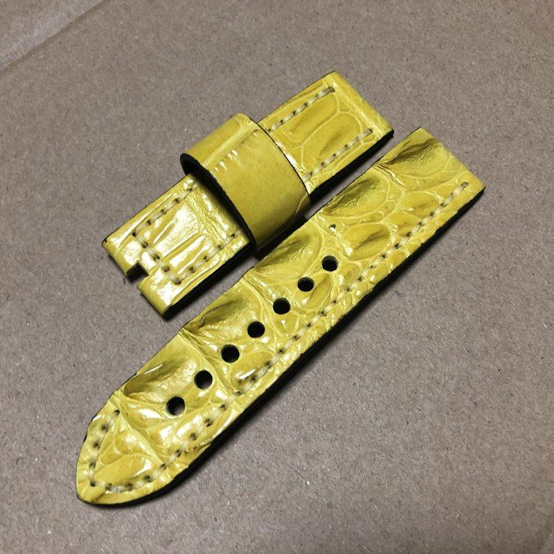 TOTOY Krokodil Haut Große Knochen Straße Strap, 24 MM Orange Lederband, rau Mad Knochen Muster Männer Bügel der, Für 44 MM Zifferblatt-in Uhrenbänder aus Uhren bei  Gruppe 3