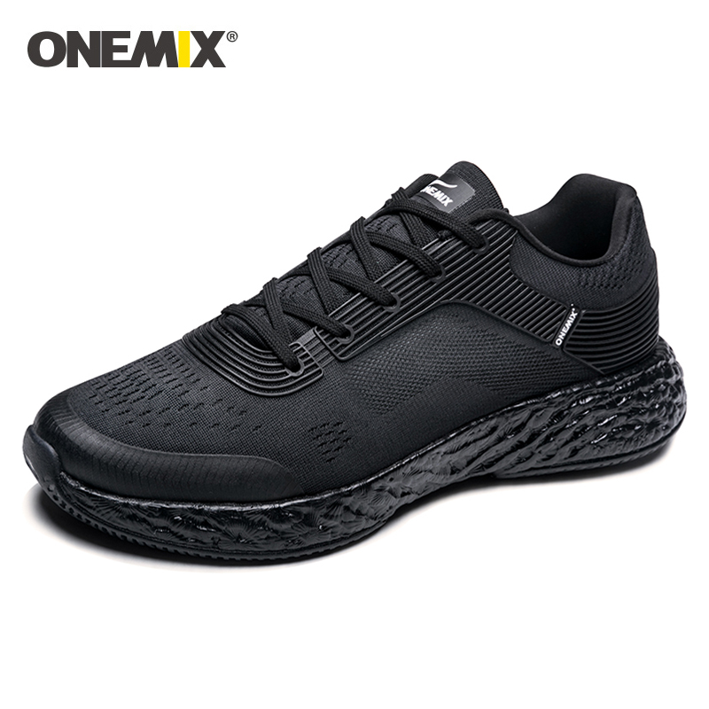 Onemix <font><b>350</b></font> Mens Running <font><b>Shoes</b></font> high-tech Marathon Sneakers Outdoor Breathable Sneakers Anti-skid <font><b>Boost</b></font> outsole size:39-47 image