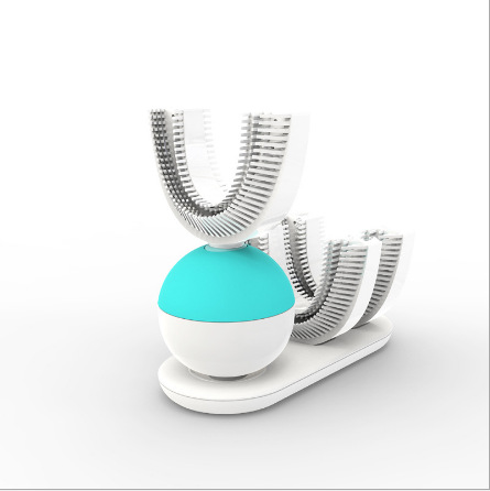 360 Automatic toothbrush Tooth Brush Electric Ultrasonic Sonic Toothbrushes Holder Electric Toothbrush Rechargeable White Blue