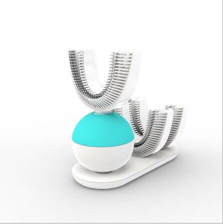 360 dientes automático cepillo de dientes eléctrico Ultra sonic cepillos de dientes titular cepillo de dientes eléctrico recargable blanco azul