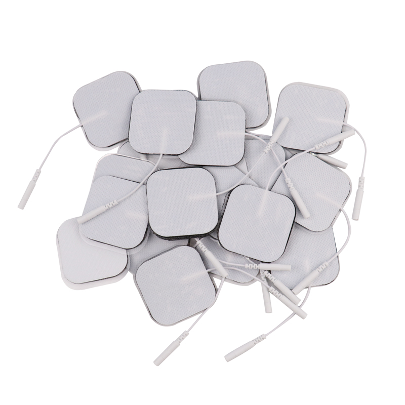 100Pcs 5x5cm Nerve Muscle Stimulator Self Adhesive Silicone Gel Electrode Pads Tens Electrodes Digital Therapy Machine Massage