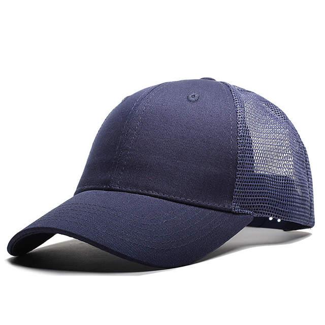0a281f2958d placeholder IOTTG 2018 New Casual Baseball Cap Female Snapback Trucker  Blank Mesh Visor Hat Outdoor Sports Sun