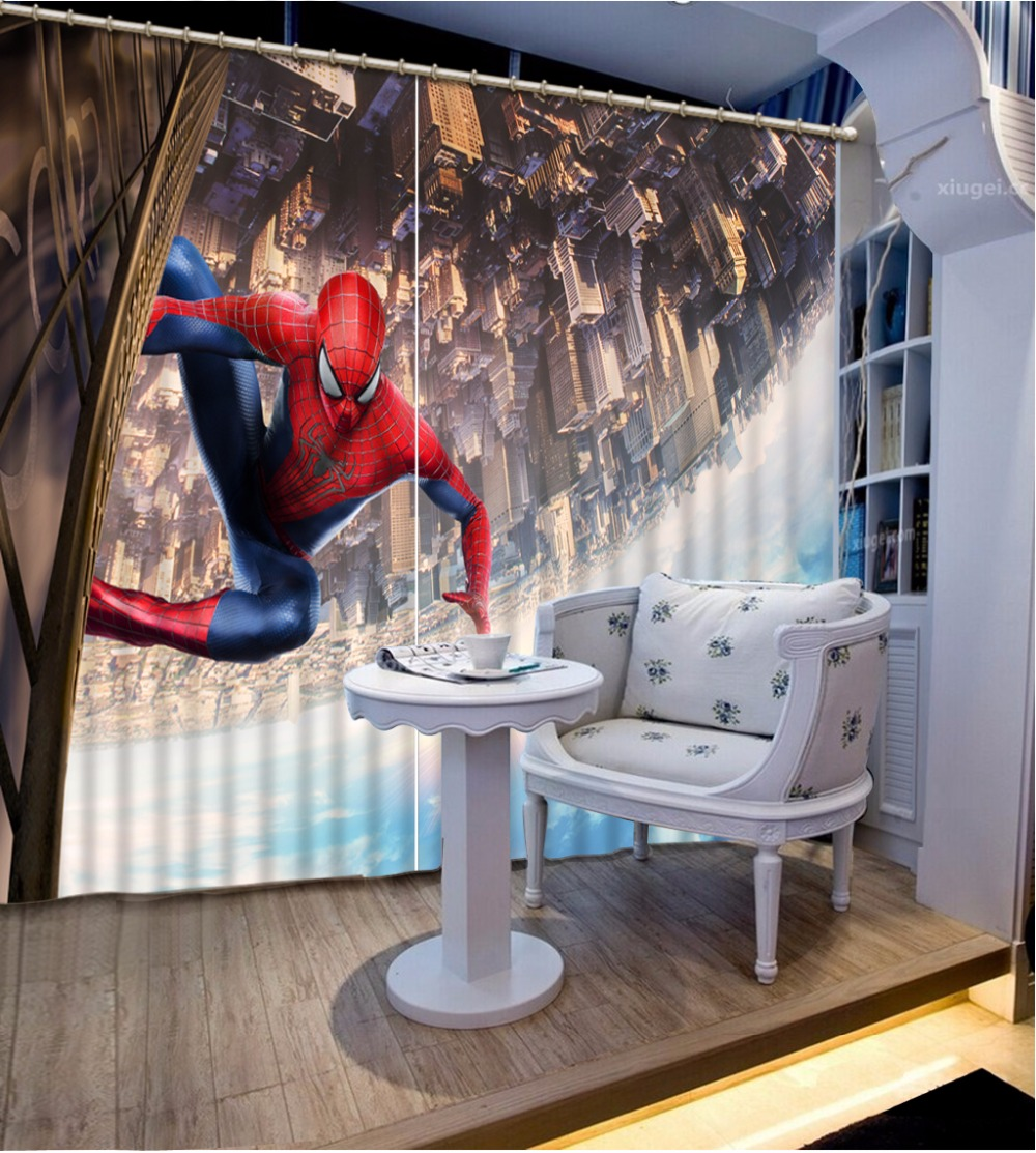 Home Bedroom Decoration Fashion Customized 3D Curtain Cartoon Anime Trapeze Curtains For Bedroom Blackout Shade Window Curtains