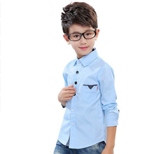 Kids Blouses For Boys Clothes Cotton Dot Boys Shirts Full Sleeve Children School Uniforms Spring Formal Students Clothing 2-12Y