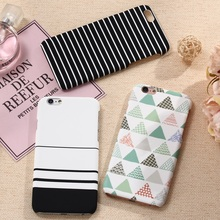 XBXcase Plastic Hard Back Phone Case for iPhone 5 5S SE 7 7+Plus Ultra Slim Simple Geometic Stripe Case for iPhone 6 6S Plus x