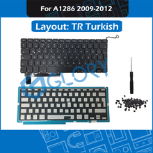 New Laptop TR Turkish A1286 Keyboard For Macbook Pro 15″ A1286 Replacement Keyboard with Backlight Screws 2009 – 2012