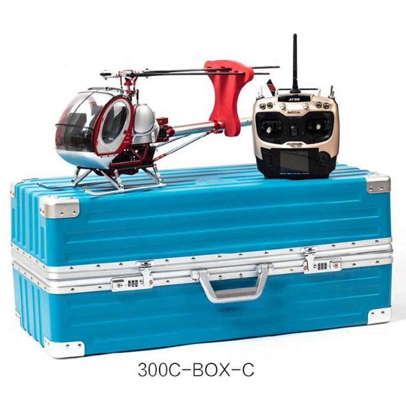 Schweizer 300C escala Full Metal 9CH RC helicóptero sin escobillas RTF Set 450L DFC alta simulación helicoptero eléctrico de juguete