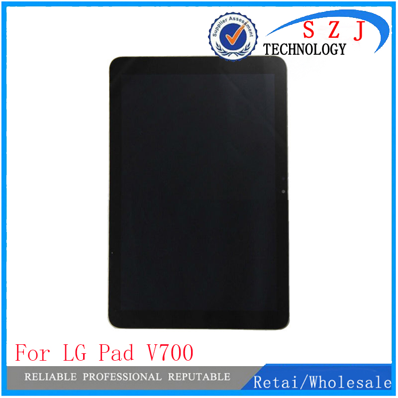 New 10.1'' inch case For LG G Pad 10.1 V700 VK700 LCD Display+Digitizer Touch Screen Glass Assembly Repairment Parts Free shipp black case for lg google nexus 5 d820 d821 lcd display touch screen with digitizer replacement free shipping