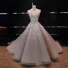 FL&AEVVE Real Photos Blush Pink Elegant Evening Dresses