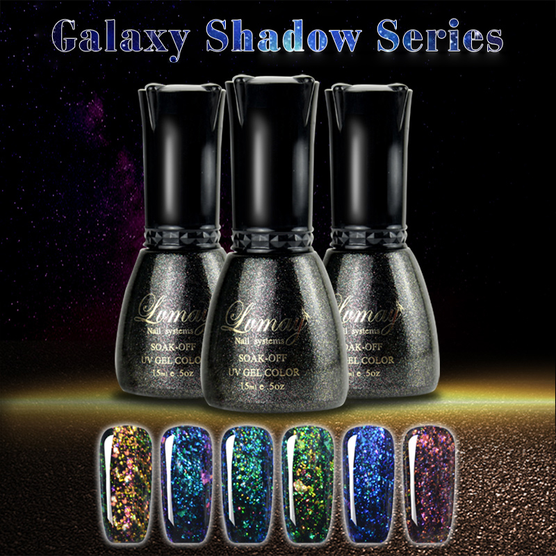 Gelaxy Gel Nail Polish: New Style 3 Pcs Set Galaxy Shadow Gel Nail Polish Shinning