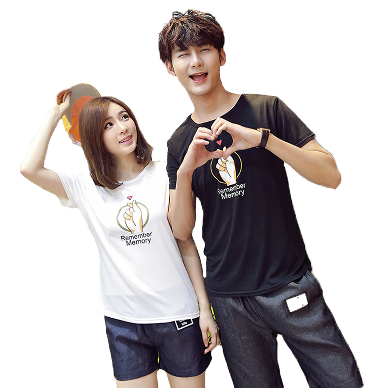 Lovers Matching Outfits Korean Couple T Shirt For Couple ...
