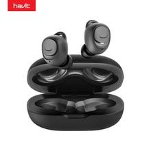 HAVIT TWS Bluetooth Kopfhörer V5.0 HD Stereo Drahtlose Ohrhörer IPX5 Noise Cancelling Gaming Headset Gekoppelt Separat I96